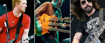 THEM CROOKED VULTURES: Grohl, Homme and Jones working on a new album